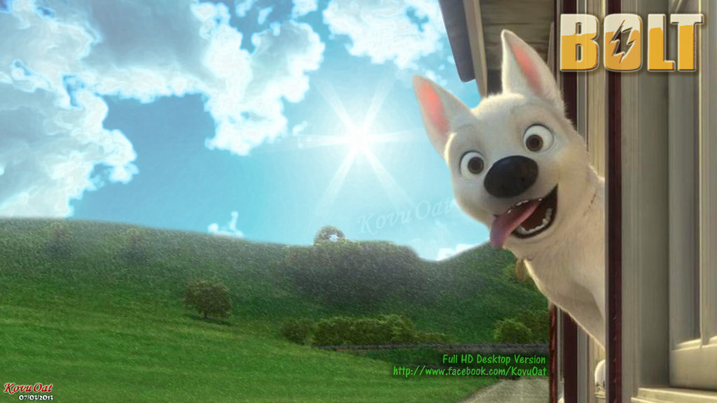 Disney Bolt Dog Desktop Wallpaper by KovuOat 1024x576