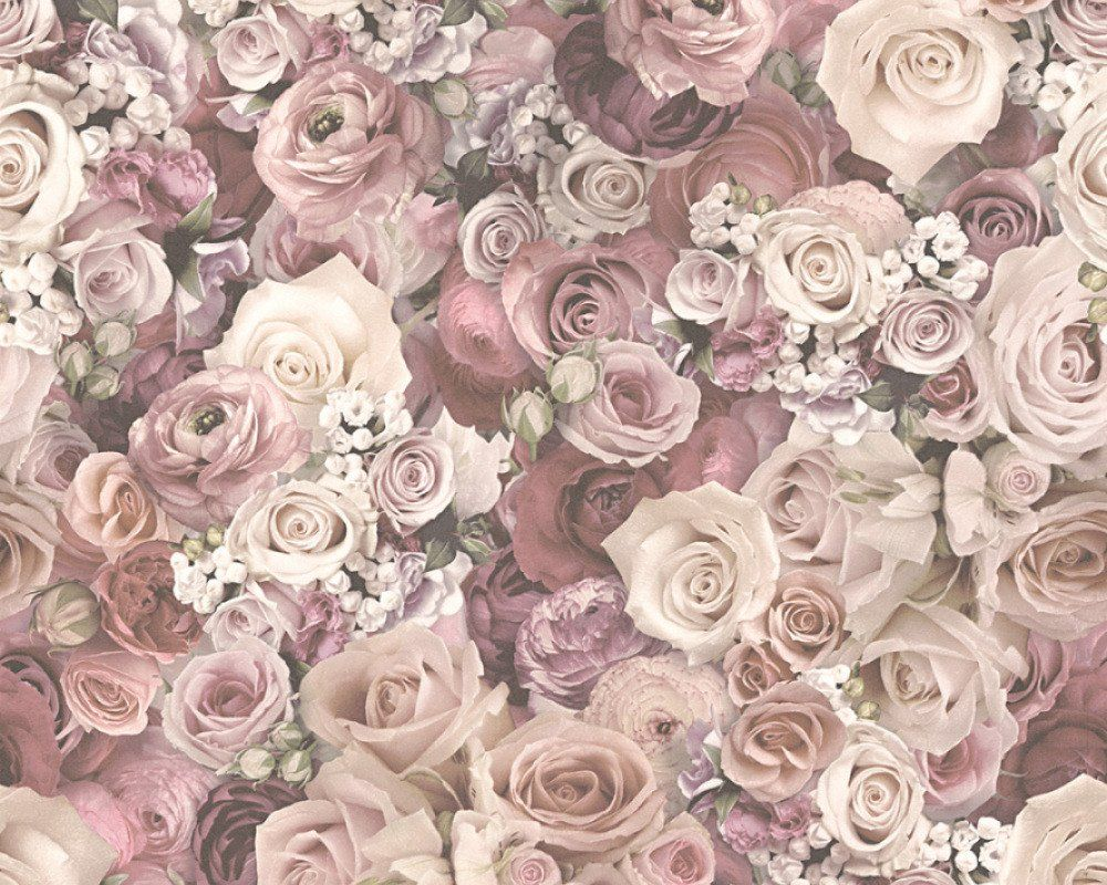 Urban Flowers Rose Floral Dusky Pink in 2019 Colour Inspiration 1000x800