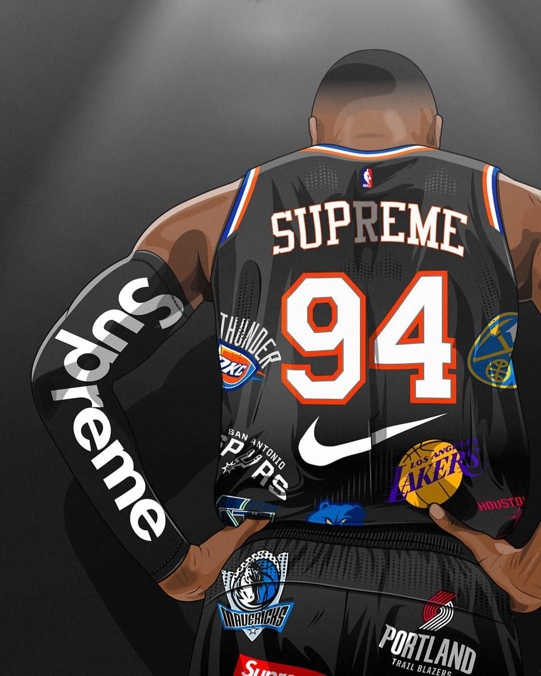 Pin by James2k00 on Hypebeast art and other lit art Nba 1080x1350