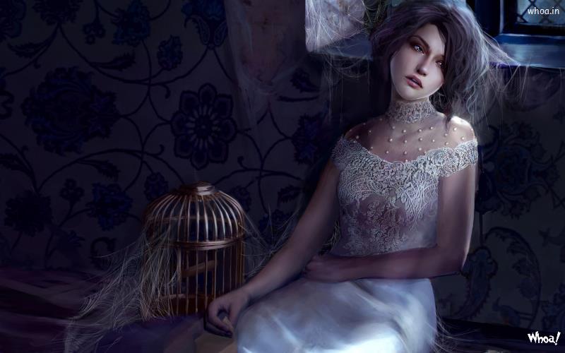 Fantacy Gothic 3D Girl Hd Wallpaper 12 800x500