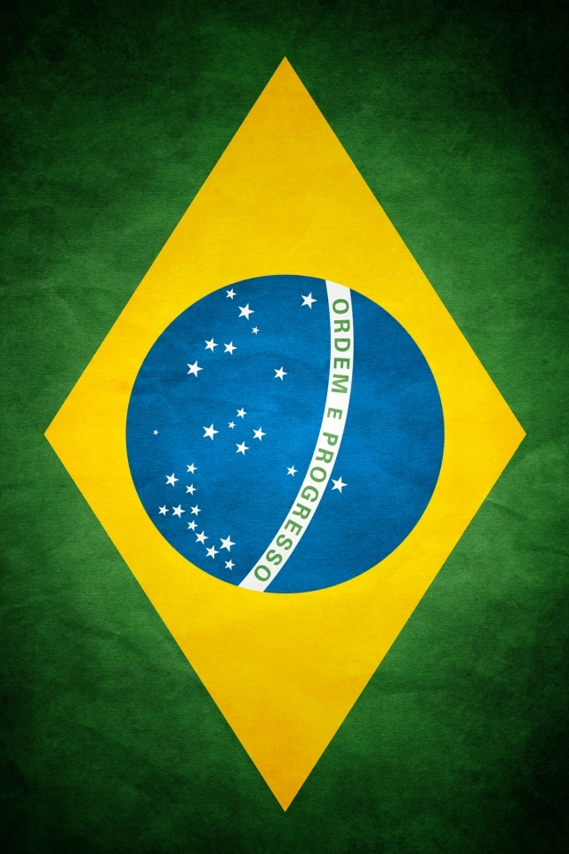 Brazil Flag iPhone HD Wallpaper iPhone HD Wallpaper download iPhone 640x960