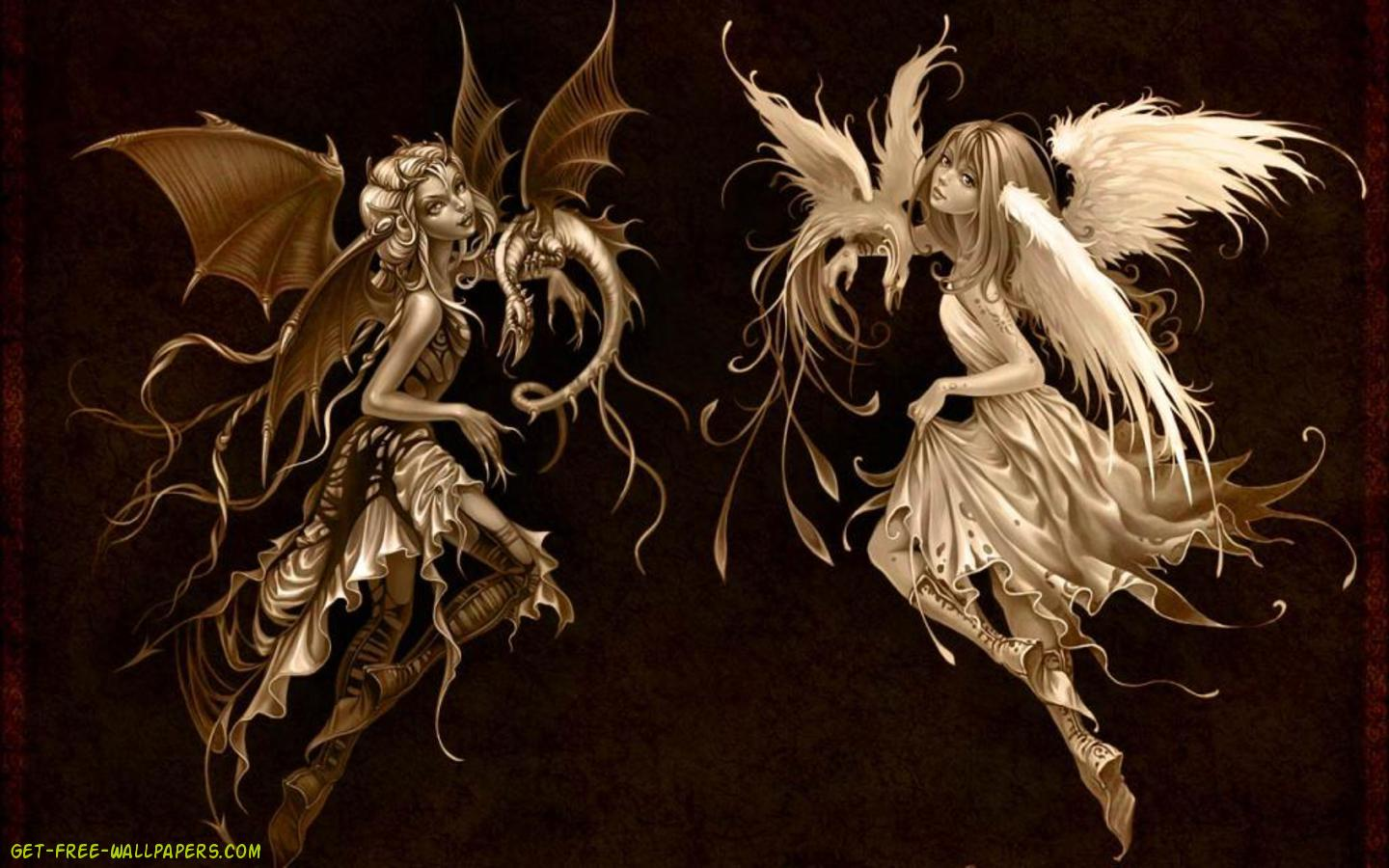 Download Angel And Devil Wallpaper 1440x900