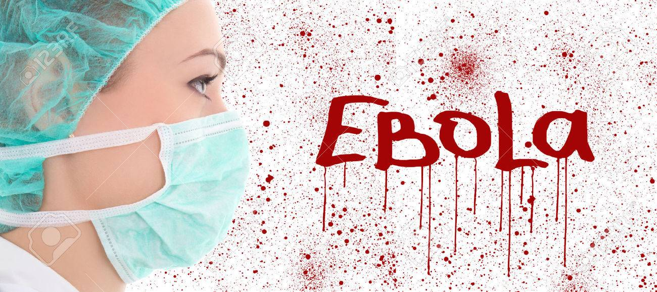 Virus Ebola Concept   Young Female Doctor In Surgeon Mask Over 1300x578