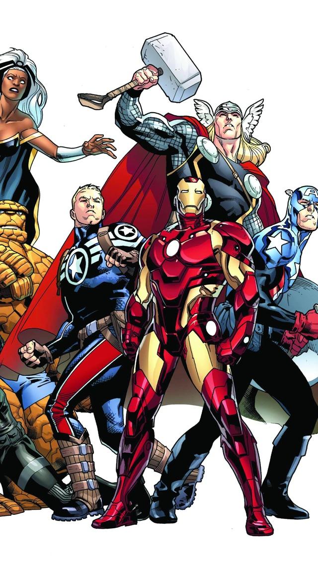 Marvel heroes iPhone 5 Wallpaper 640x1136 640x1136