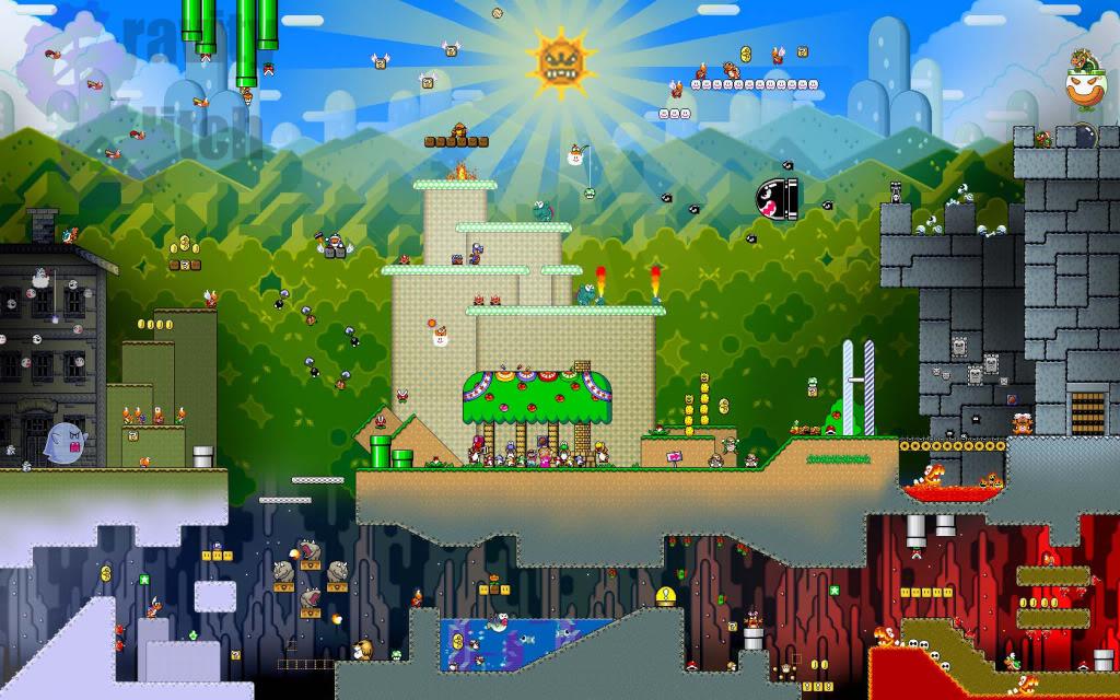 16 Bit Mario Wallpaper Photo by armin956 Photobucket 1024x640