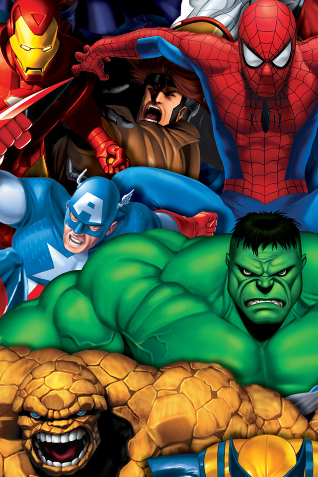 Marvel Wallpaper Iphone 5 Marvel Heroes iPhone 4s Wallpaper Download 640x960