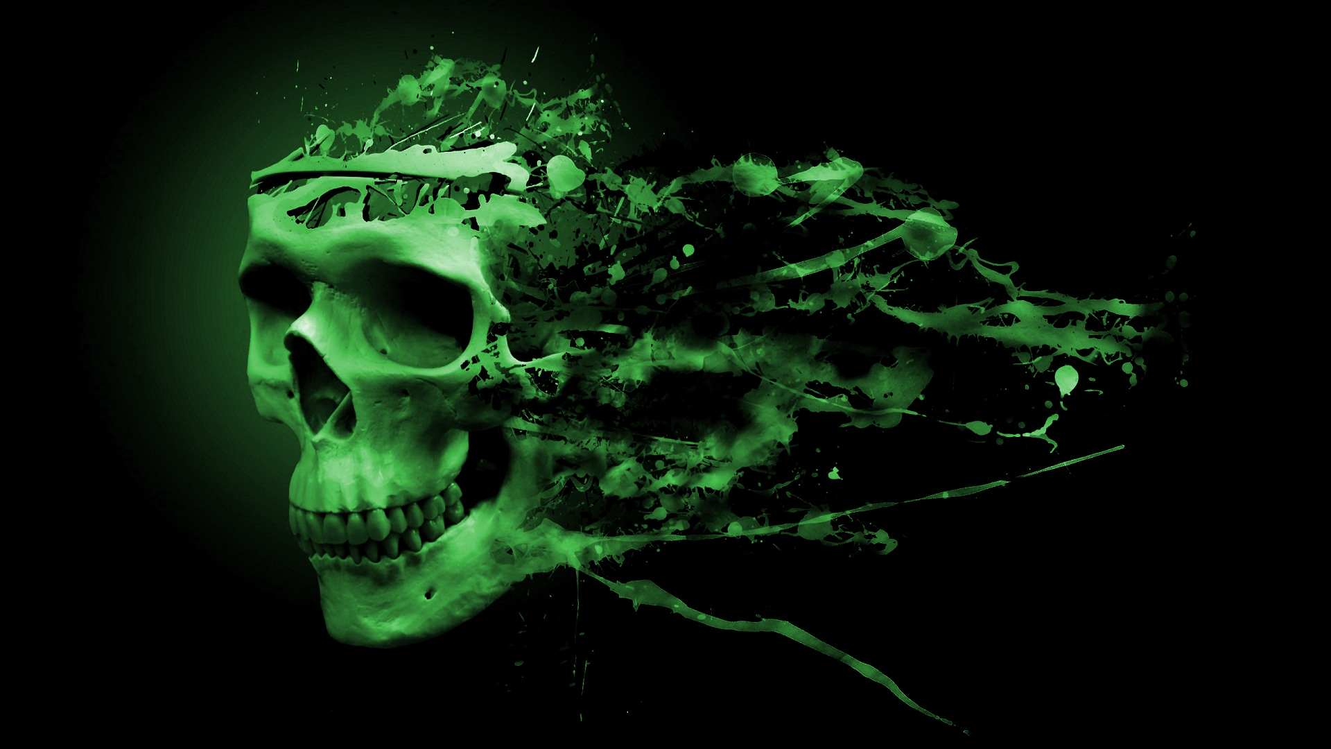 Green Skull Wallpaper Related Keywords amp Suggestions 1920x1080