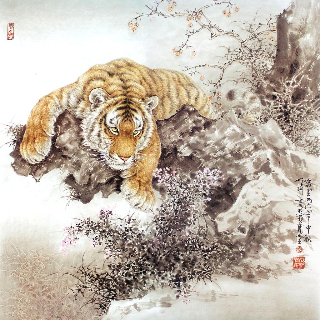 Asian art wallpaper wallpapersafari for Chinese mural art