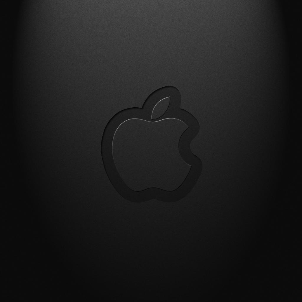 Black Apple Logo iPad 2 Wallpaper iPad Retina HD Wallpapers 1024x1024
