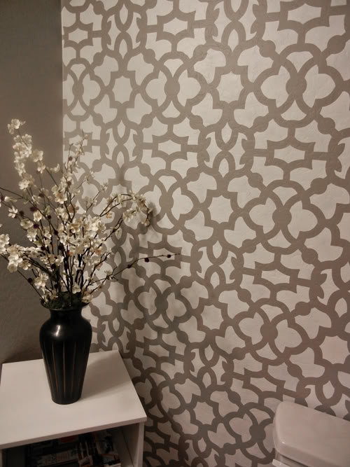 stencil patterns instead of wallpaper   Quality stencils for DIY decor 500x667