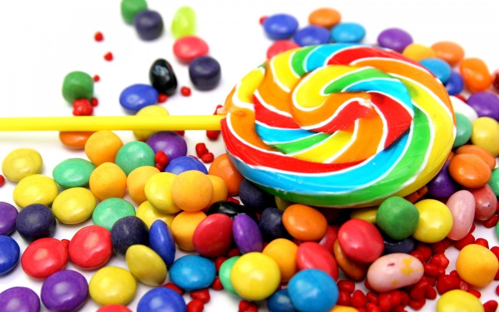 Multicolored lollipop HD wallpaper Wallpaper Flare 1680x1050