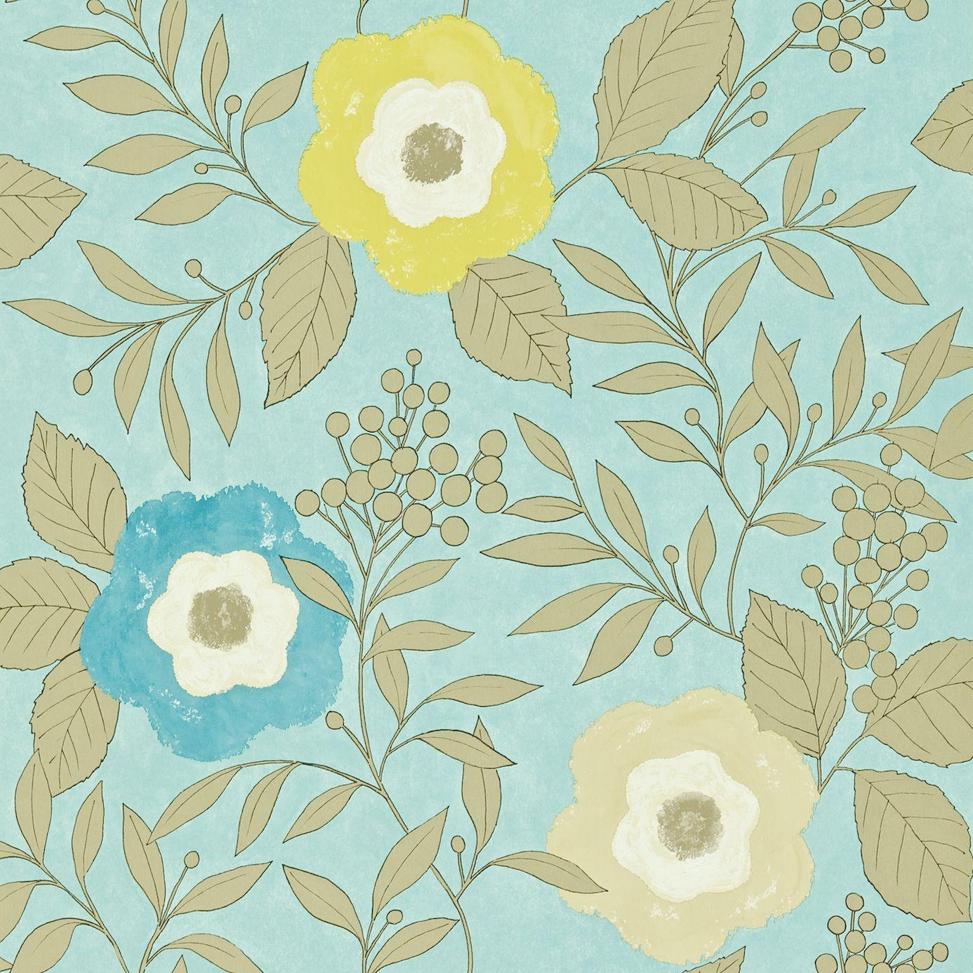 Home Wallpapers Harlequin Folia Wallpapers Jena Wallpaper   OceanZest 1386x1386