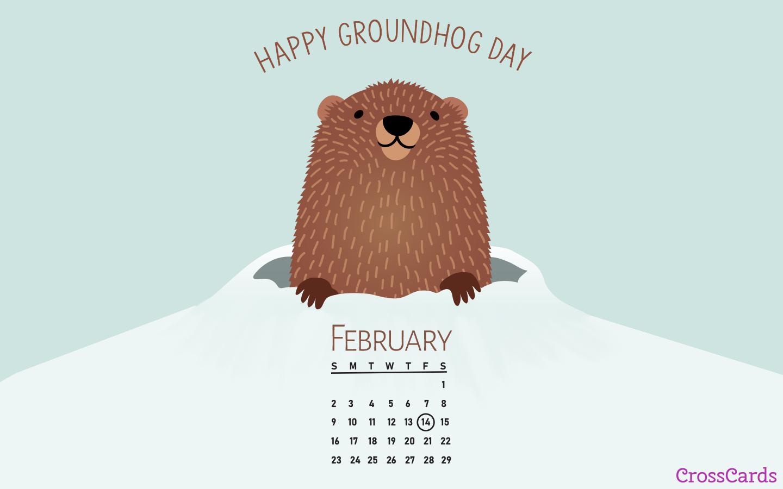 February 2020   Groundhog Day Desktop Calendar  February 1440x900
