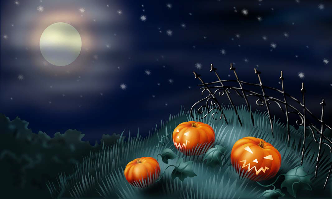 Halloween Graveyard Wallpaper