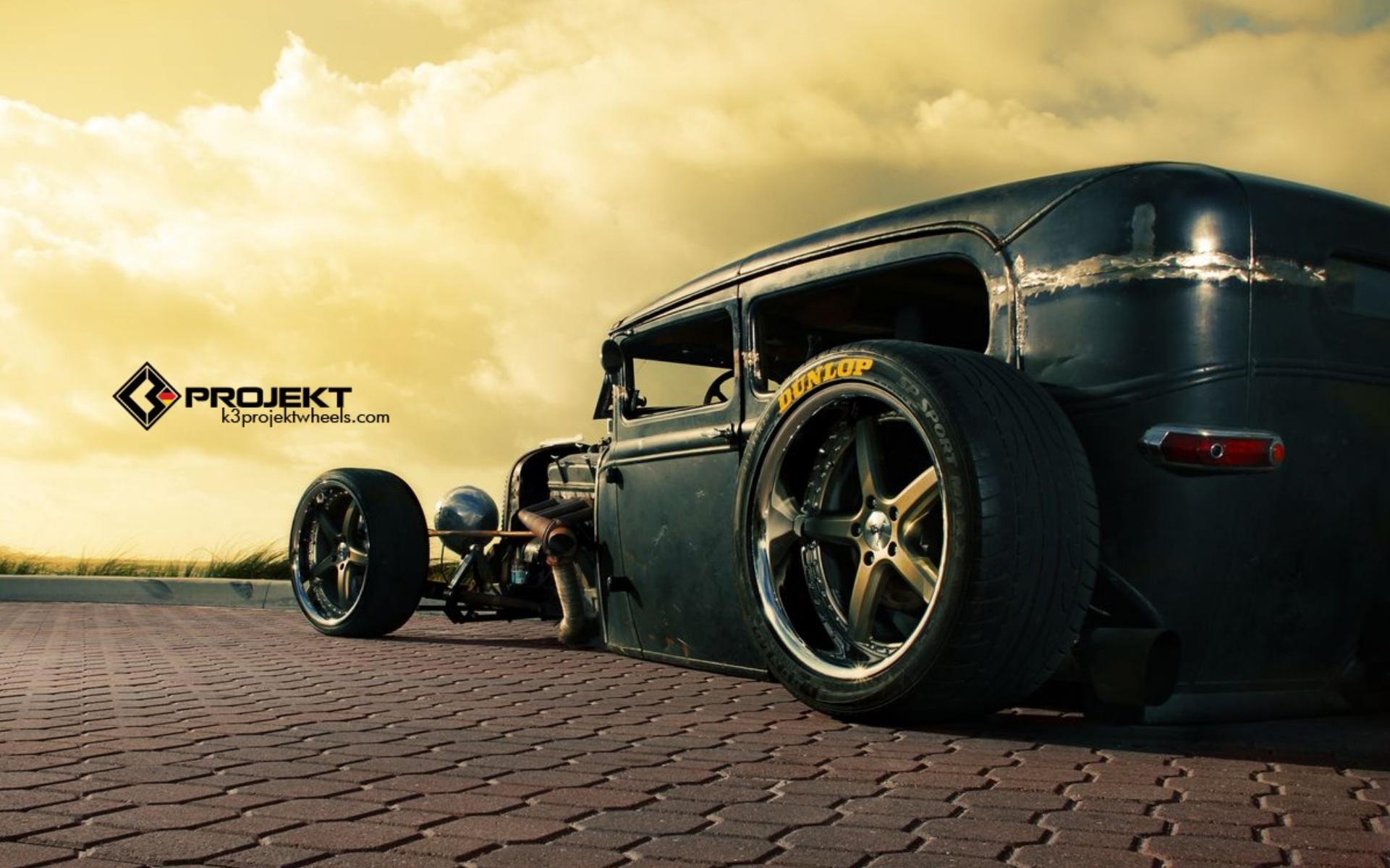 Ford Model T rat rod hot rods retro wheel wheels wallpaper background 1921x1200
