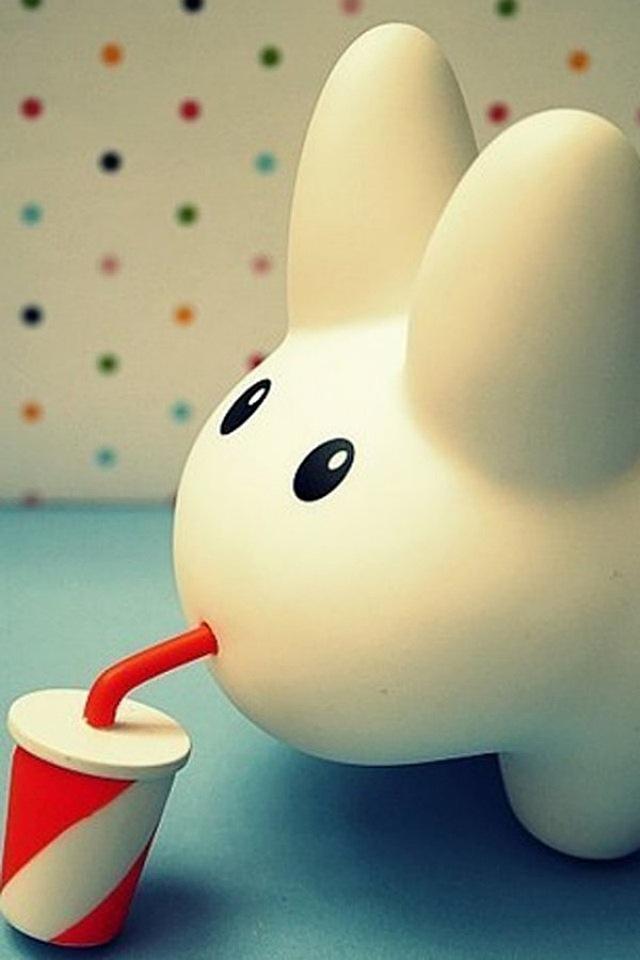 Cute Rabbit Simply beautiful iPhone wallpapers 640x960