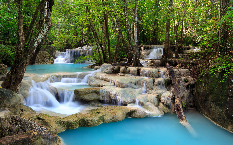 Tropical Waterfall Scenery HD Wallpaper 2880x1800