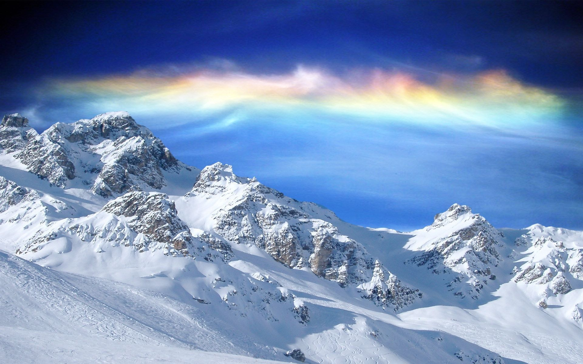 Winter Mountains Daily Backgrounds in HD 1920x1200