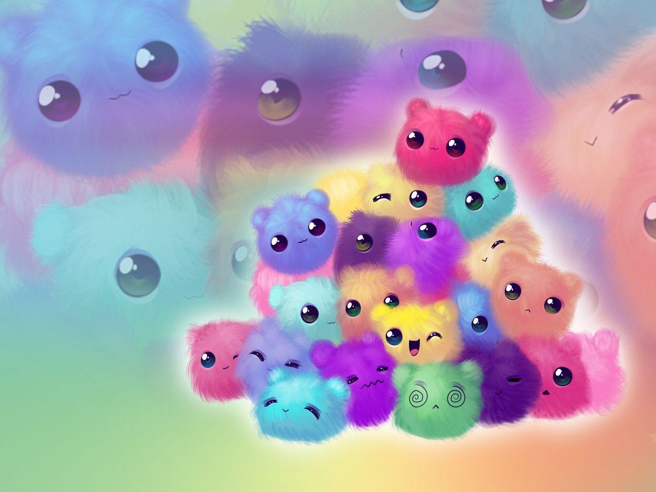 Adorable cute fluffies Cute wallpapers Kawaii wallpaper Anime 1280x960