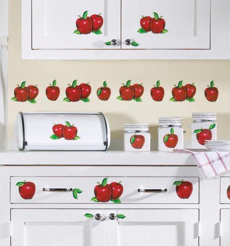 Apple Kitchen Decor Stick on Decals by Winston Brands B004FJRY6U 469x500