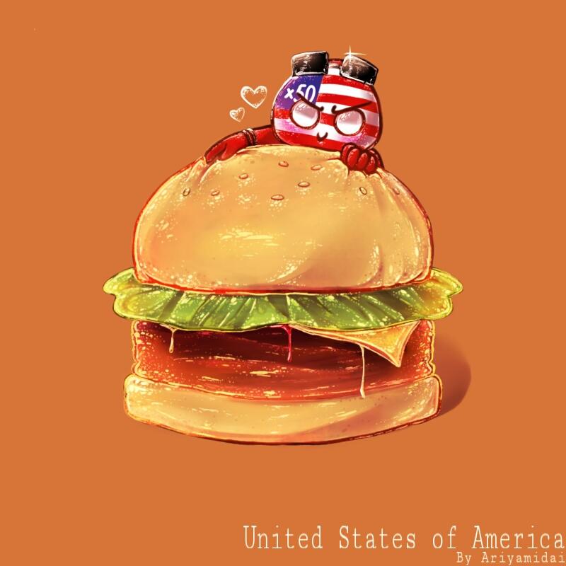 Countryhumans America by Ariyamidai 800x800