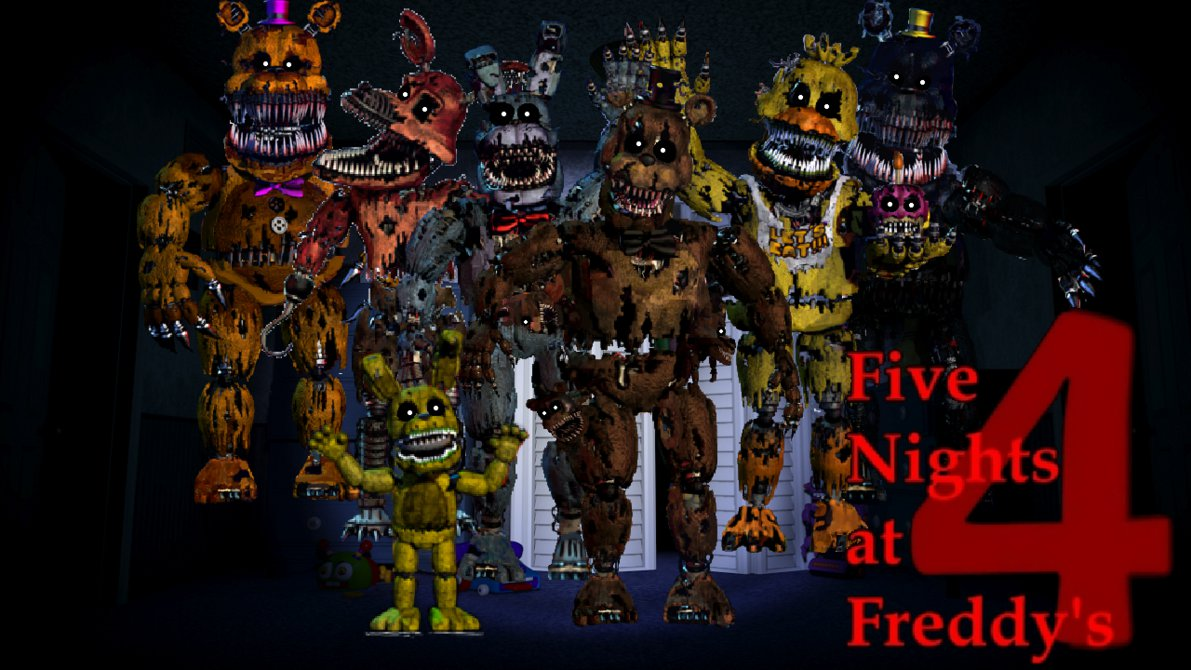 Free Download Five Nights At Freddys 4 Wallpaper By Pedrophhd On