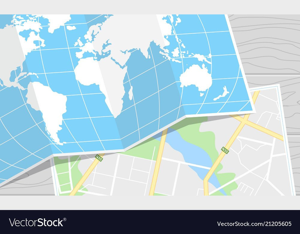 Travel map background Royalty Vector Image 1000x780