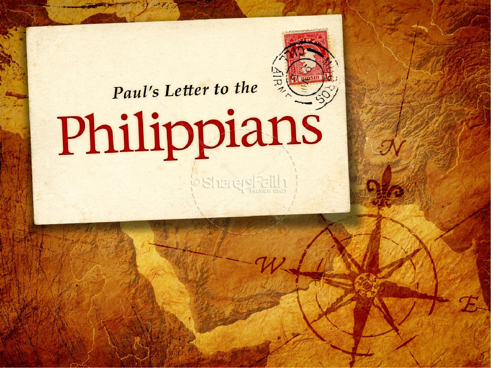 Book Of Philippians PowerPoint Template New Testament Books 1600x1200