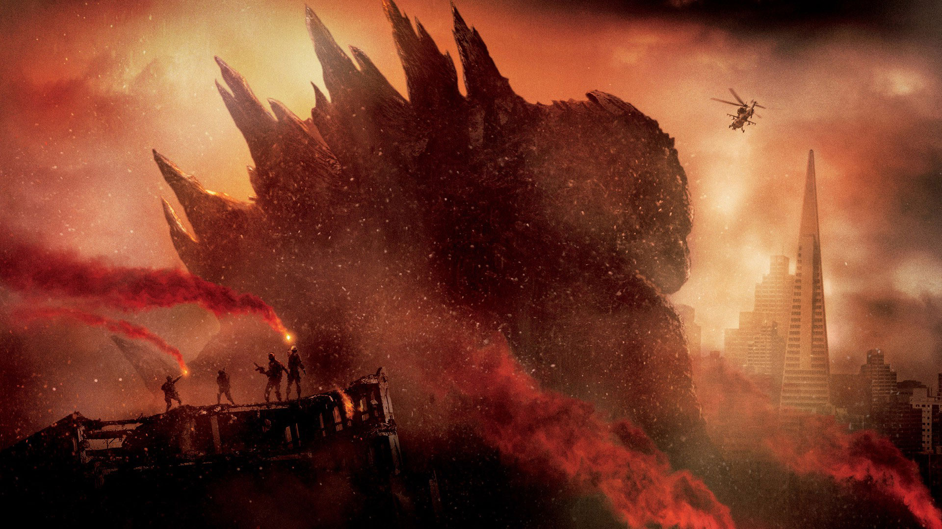 Godzilla Movie 2014 HD iPhone iPad Wallpapers 1920x1080