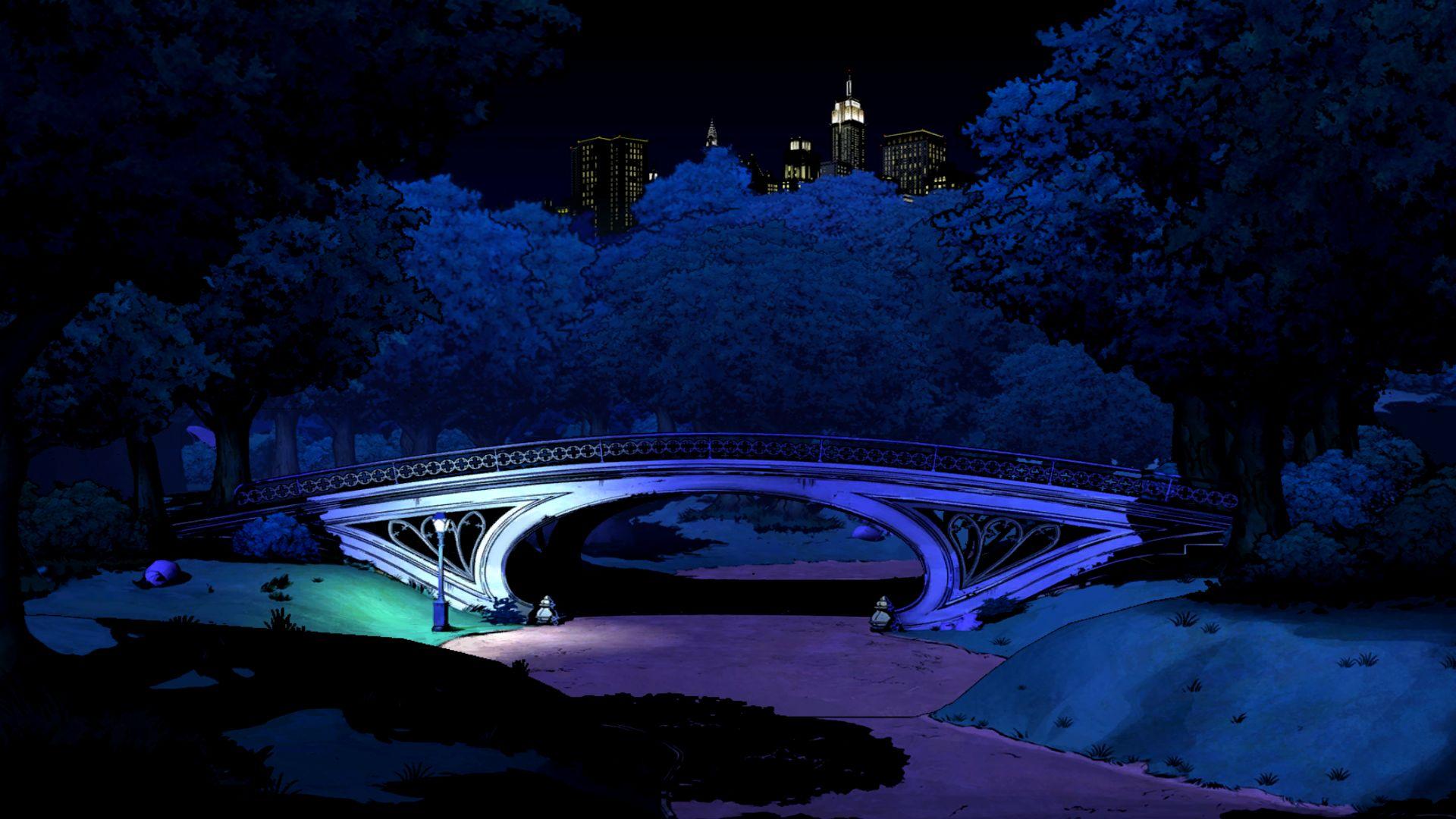 THE WOLF AMONG US game bridge night city f wallpaper background 1920x1080