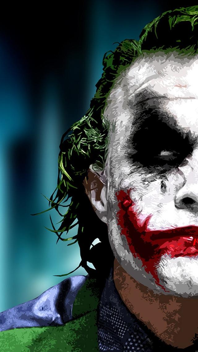 Heath Ledger as The Joker iPhone 5 Wallpaper 640x1136 640x1136