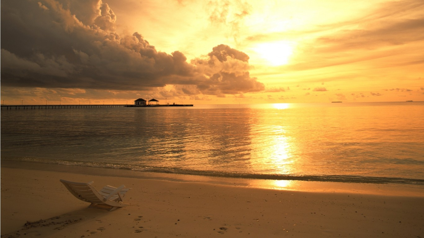 Sunset Beach HD Wallpapers 1366x768