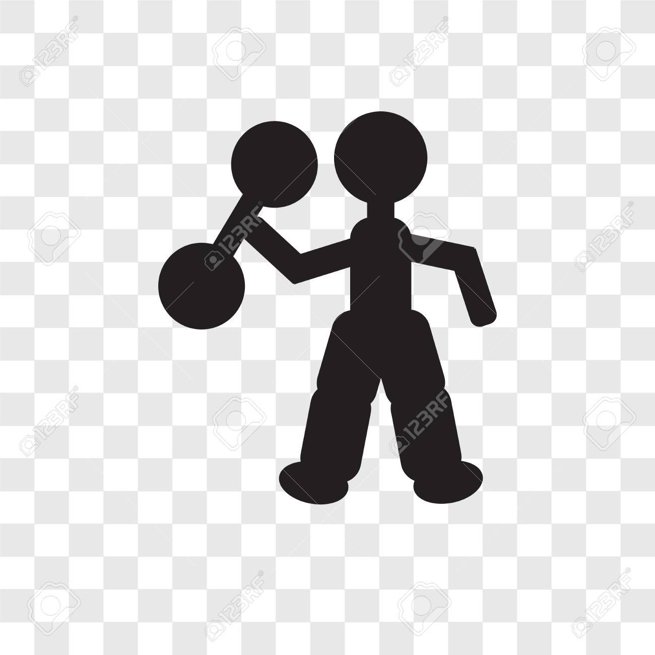 Strongman Man Vector Icon Isolated On Transparent Background 1300x1300