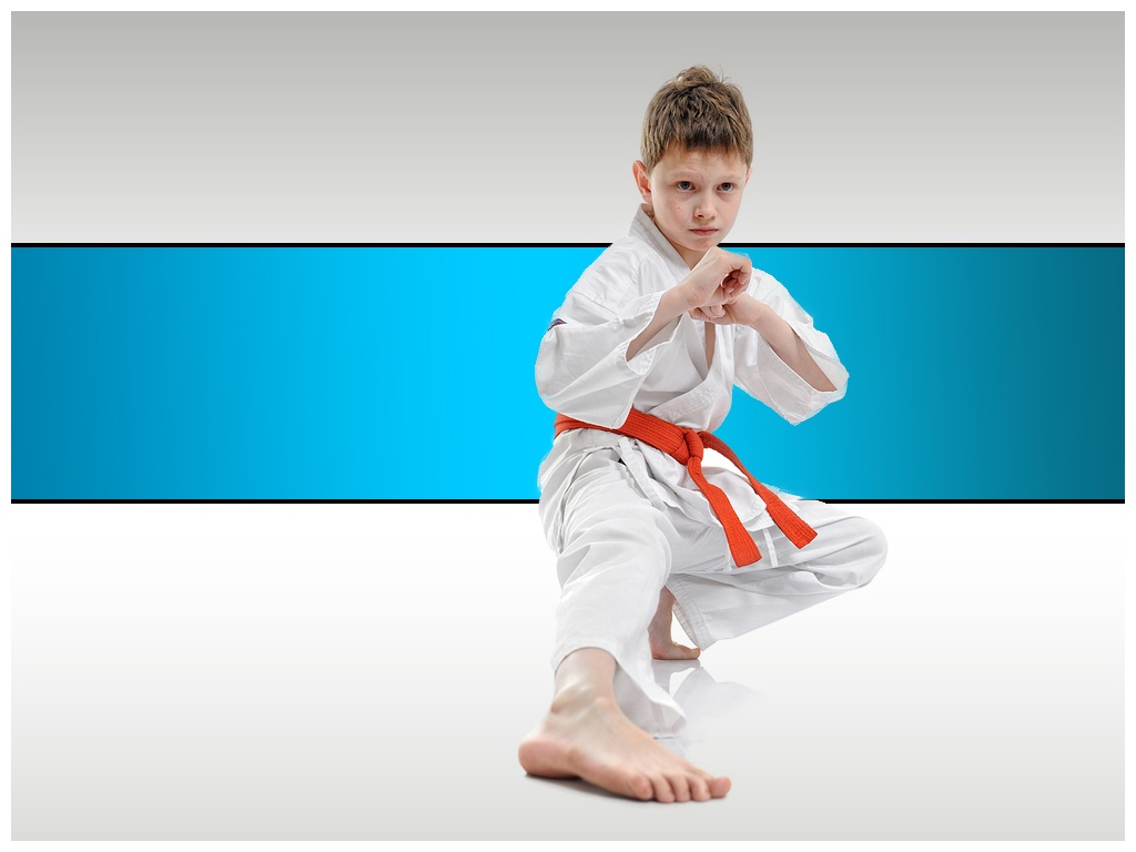 Taekwondo competitive sports publicity PPT Backgrounds for 1024x768
