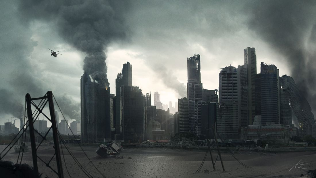 Apocalyptic City Scape by Akajork   this picture sparks the muse 1100x619