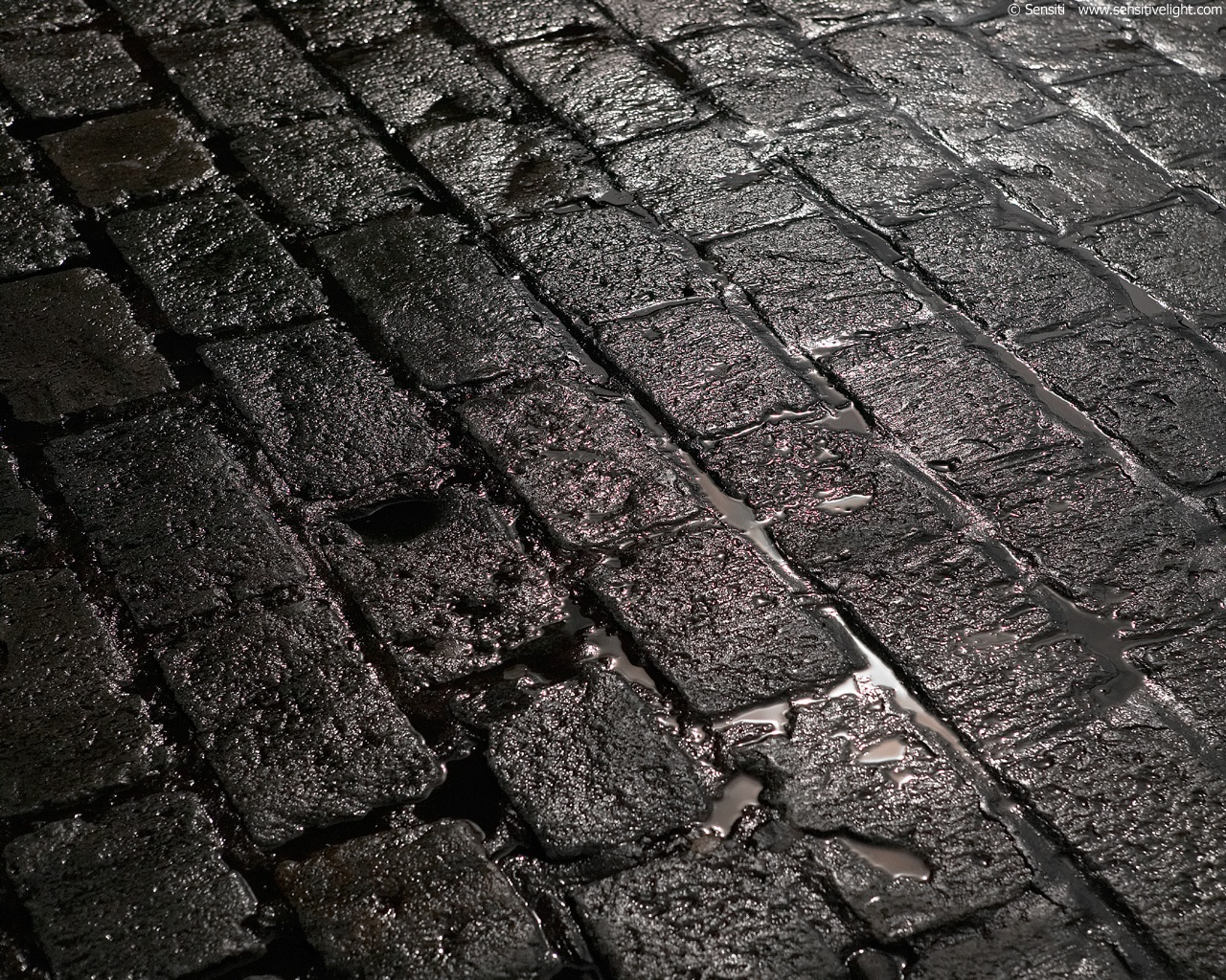 Wet stone street wallpapers Wet stone street stock photos 1280x1024