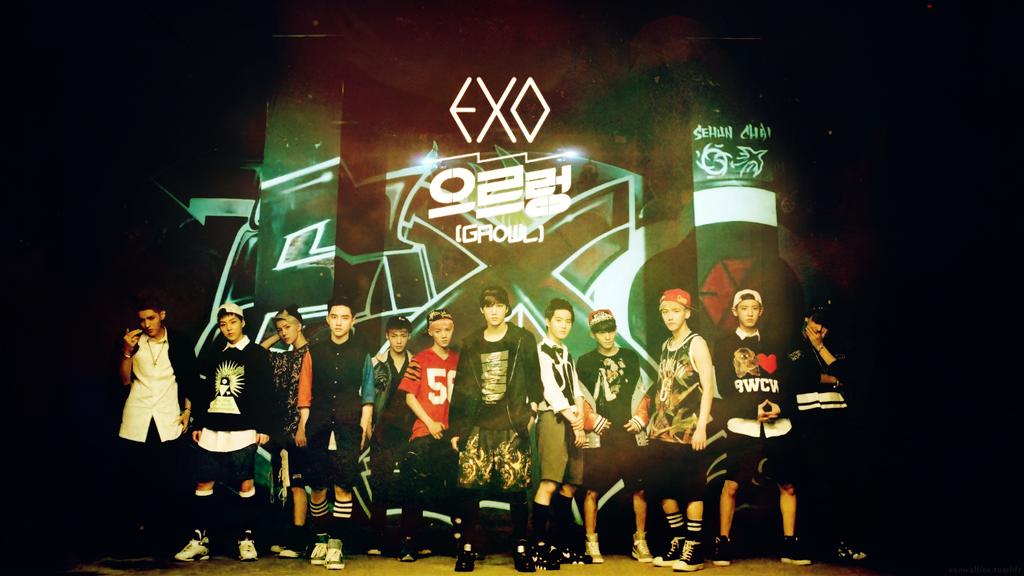 EXO] Growl   Teaser Video HD Wallpaper Kr by yoojinkim on 1024x576