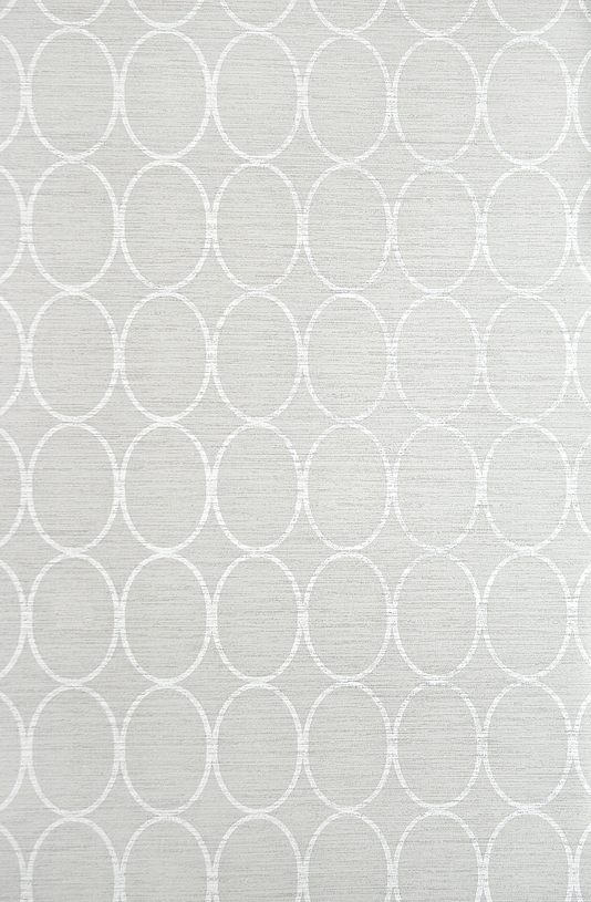 Wallpaper Light Grey wallpaper with geometric oval design in White 534x815