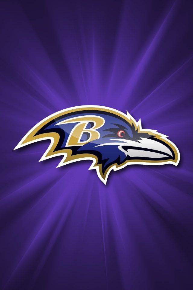 Ravens iPhone wallpaper Baltimore ravens logo Raven logo Nfl logo 640x960
