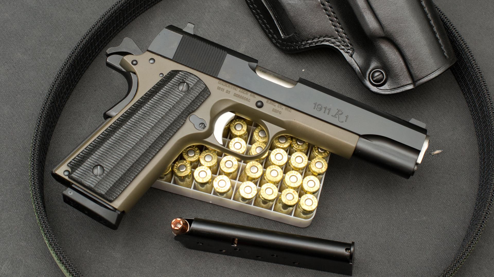 Remington 1911 r1 semi automatic pistol gun 45 wallpapers photos 1920x1080