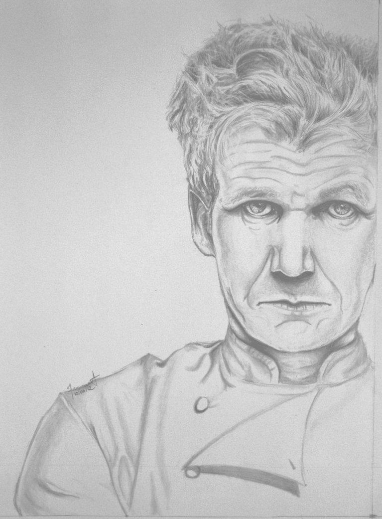 Chef Gordon Ramsay by pahmii 767x1041