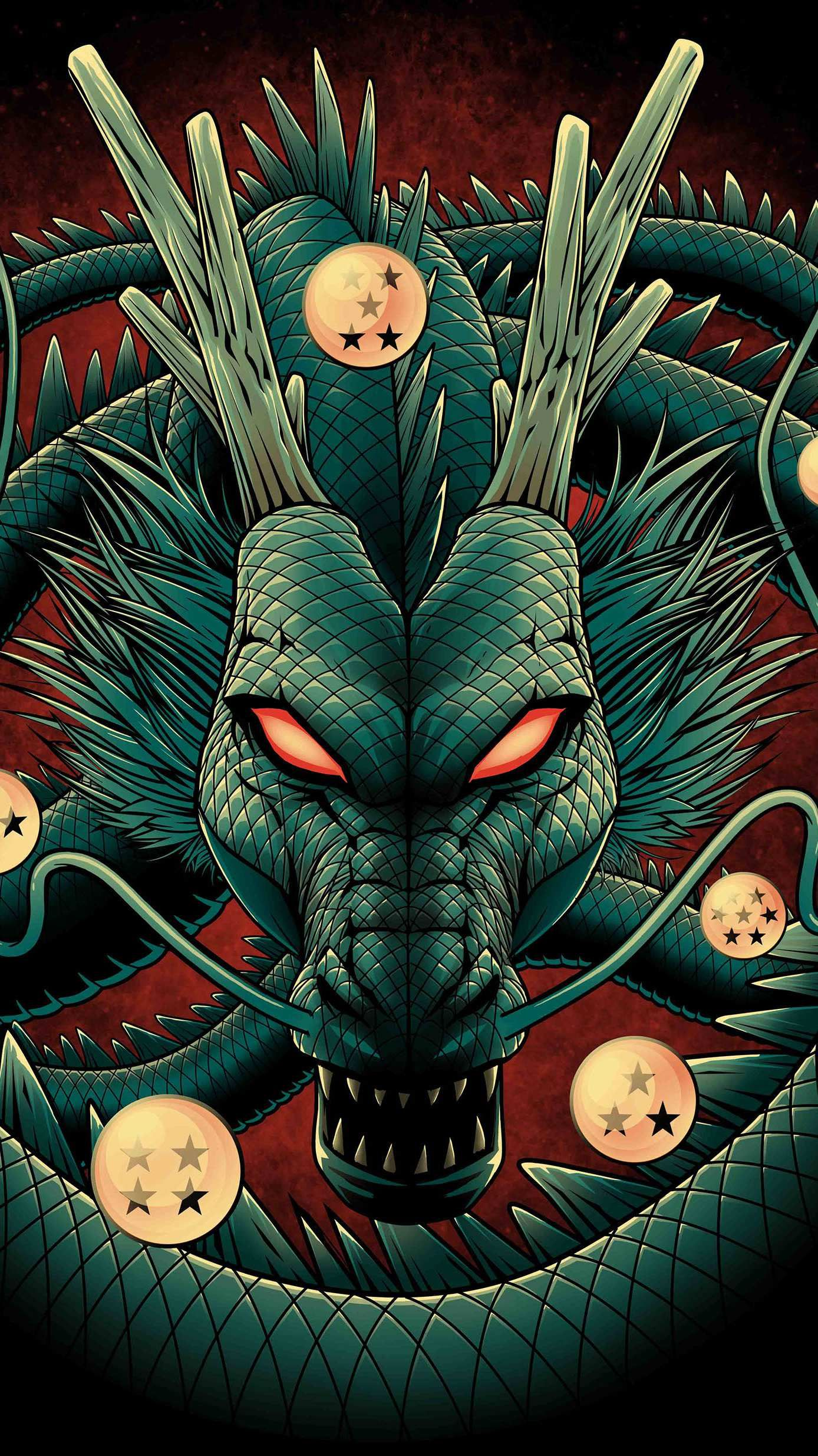 Dragon Ball iPhone Wallpaper Dragon ball artwork Anime dragon 1388x2469