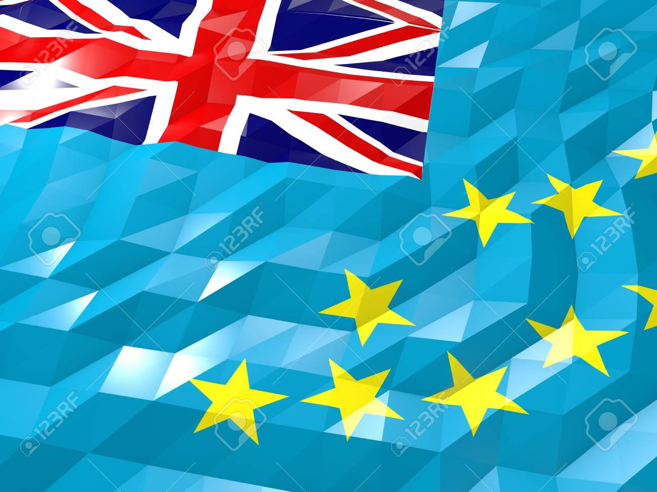 Flag Of Tuvalu 3D Wallpaper Illustration National Symbol Low 1300x975