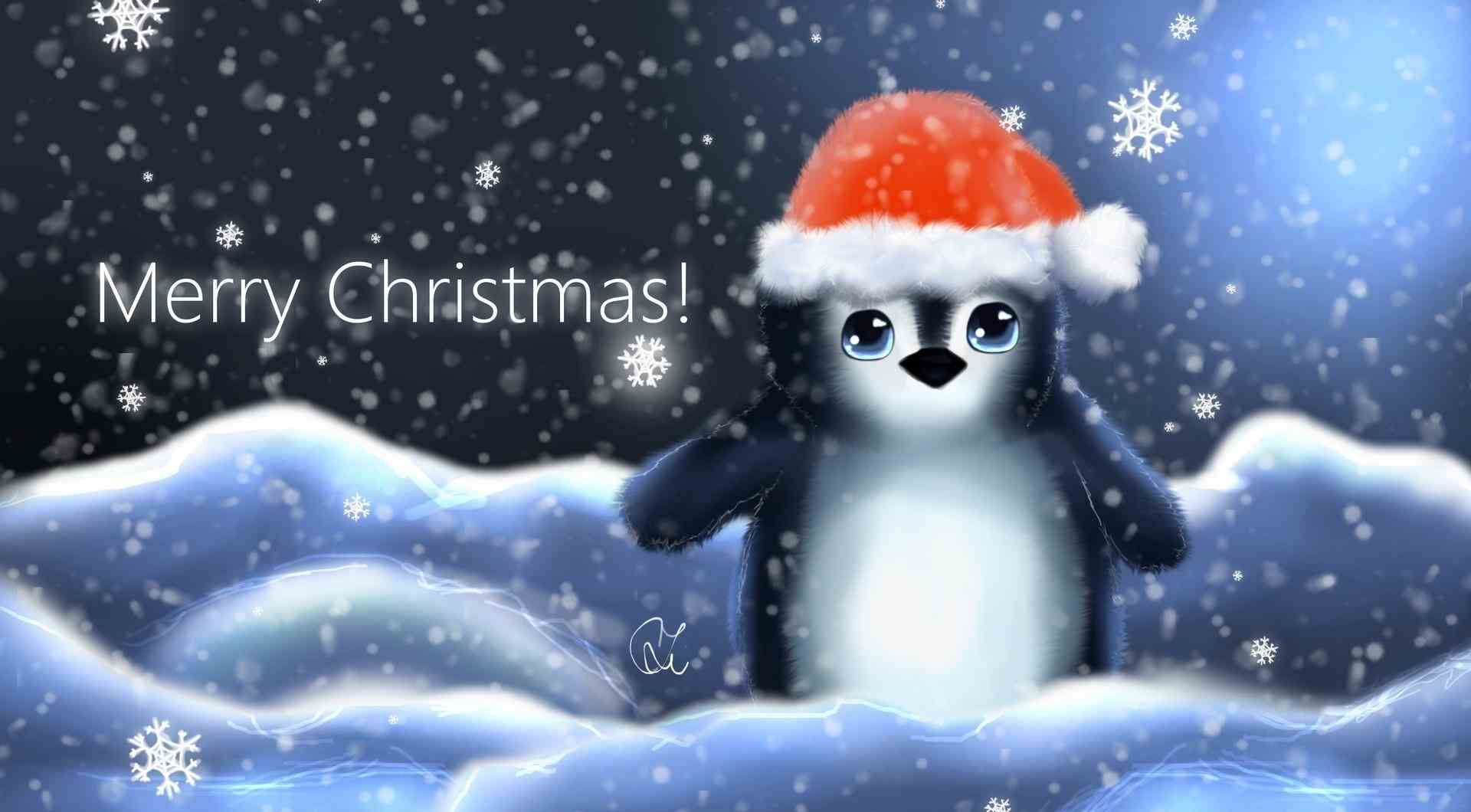 Cute Christmas Penguin HD Wallpapers from 2014 15 1920x1060