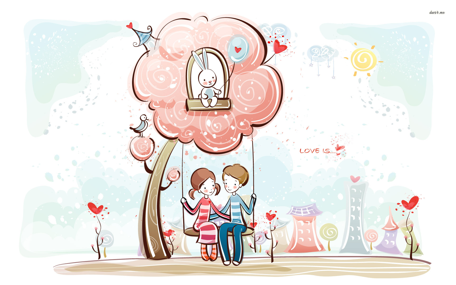 57 Free Cartoon Valentine Wallpaper On Wallpapersafari