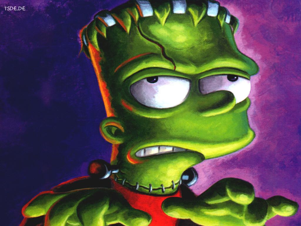 My Wallpapers   Cartoons Wallpaper Simpsons   Bart Frankenstein 1024x768