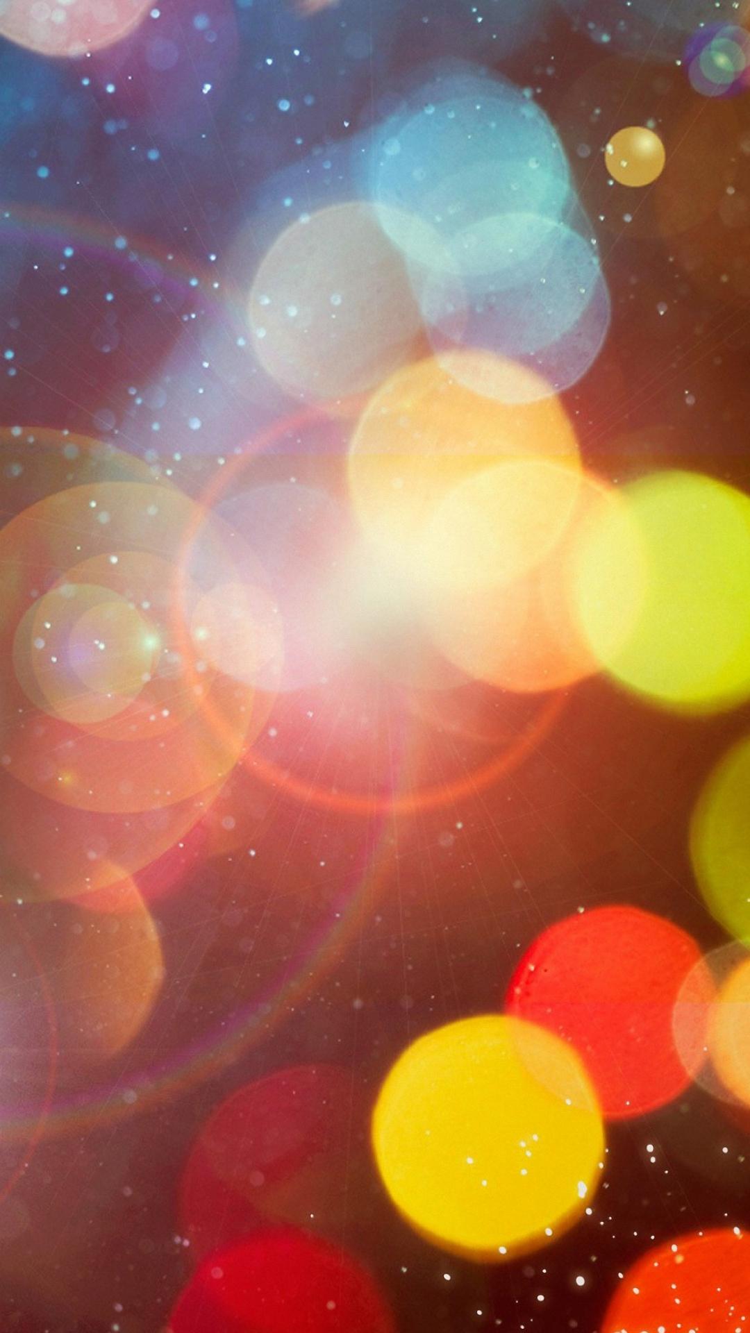 1080x1920 Pretty Colorful Circles Lights iphone 6s plus Wallpaper HD 1080x1920