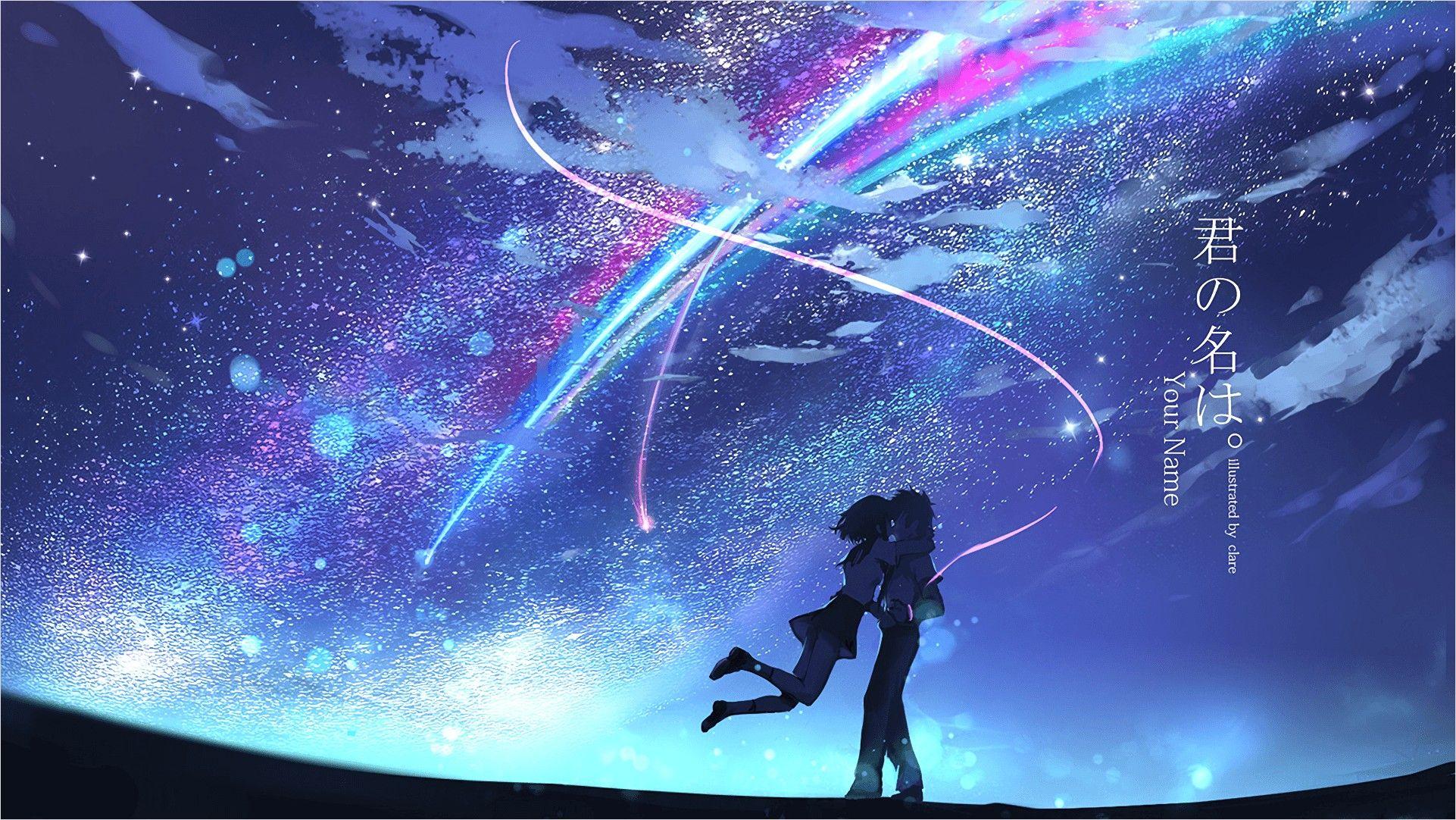 4k Anime With Name Wallpaper in 2020 Kimi no na wa wallpaper 1922x1082