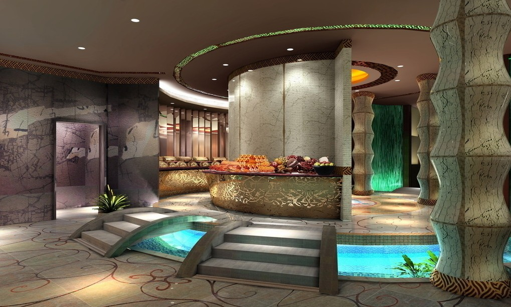 SPA Entrance Front Design 3D house 3D house pictures and 1019x613