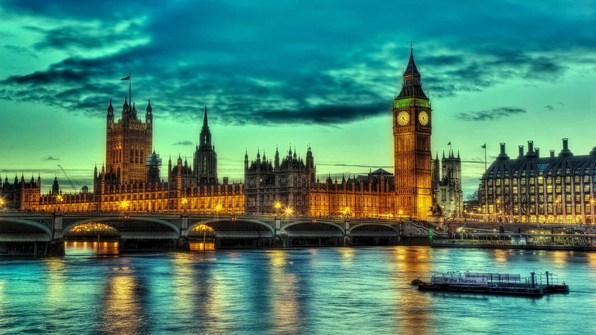 London Landscape Wallpaper HD Wallpaper WallpaperLepi 1920x1080